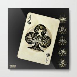 Trebol - Playing Card - BRJS Metal Print
