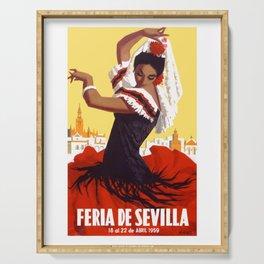 Spain 1959 Seville April Fair Travel Poster Serving Tray