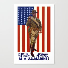 Always Faithful -- Be A US Marine Canvas Print
