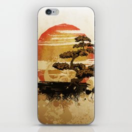 Bonsai Tree In The Sunset iPhone Skin