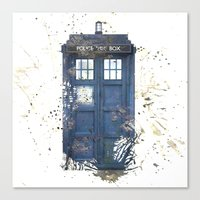 tardis Canvas Prints featuring Tardis by Abbie :)