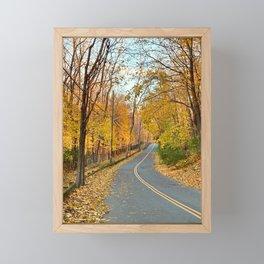 Fall Foliage Back Road - NY Framed Mini Art Print