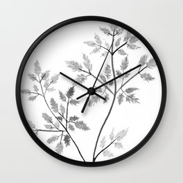 Chervil in Black and White Wall Clock