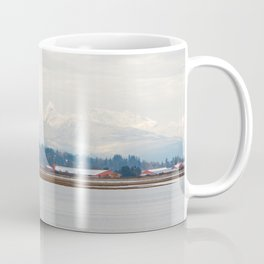 Mountainside in the Bay Coffee Mug