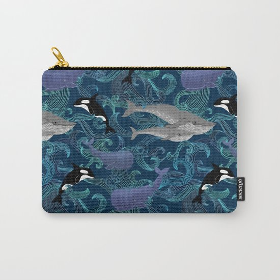 Beautiful Ocean Giants - teal Carry-All Pouch