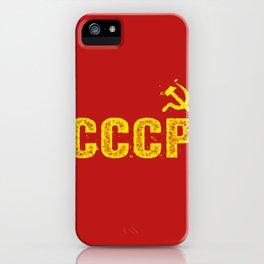 Vintage CCCP Hammer & Sickle iPhone Case