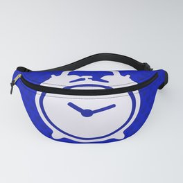 Electric Blue Mornings - with white alarm clock Fanny Pack