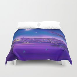 The Unexpected Visitor Duvet Cover