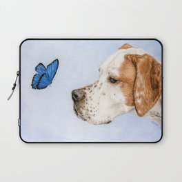 The Dog And The Butterfly Laptop Sleeve