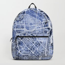 Dallas Texas City Map Backpack