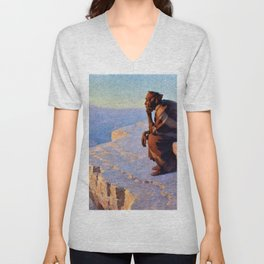 The Great Spirit - Grand Canyon by William R. Leigh Unisex V-Neck