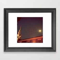 Smiling Alone Framed Art Print