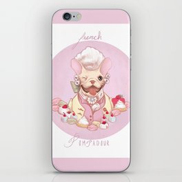 French Pompadour iPhone Skin