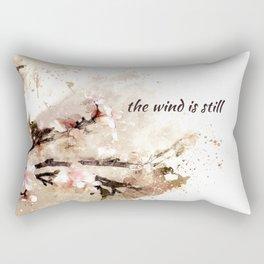 the wind is still: haikushion Rectangular Pillow