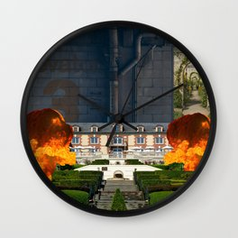 Fire on the Third Floor Wall Clock