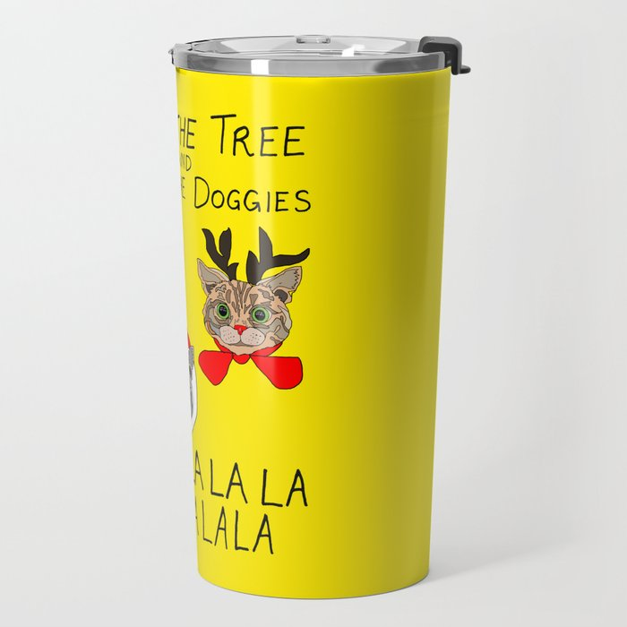 Holiday Cat Brats Travel Mug