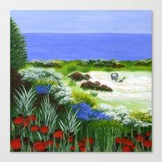 Seashore Garden Canvas Print