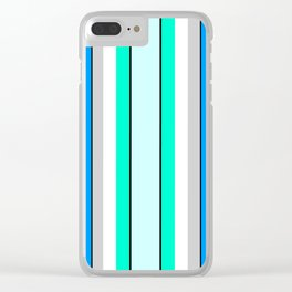 Aquafresh Curtains Clear iPhone Case