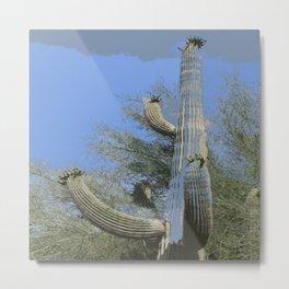 Saguaro Abstract Metal Print