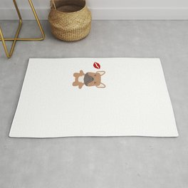 I Kissed A French Bulldog And I Liked It Cute Dog Kiss Gift Idea Rug