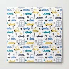 Cars Prints patterns Metal Print