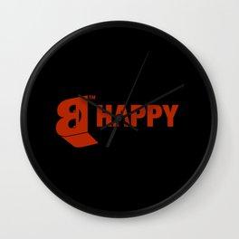 B-HAPPY #2 Wall Clock