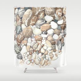 Cyprus Sea Shore Shower Curtain