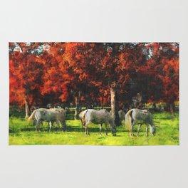 White Horse Lipizaners - Slovenia Rug