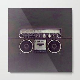 Retro Boombox Metal Print