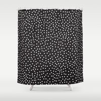 dots Shower Curtains featuring Dots by Priscila Peress