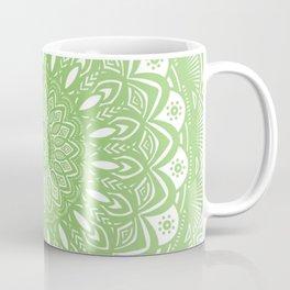Light Lime Green Mandala Simple Minimal Minimalistic Coffee Mug