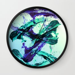 Vaporwave Style Abstraction Wall Clock