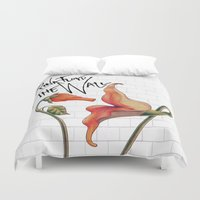floyd Duvet Covers featuring Pink Floyd The Wall by DreamBeyondArt