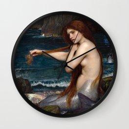 John William Waterhouse - A Mermaid Wall Clock