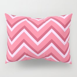 Pink Zig Zag Pattern Pillow Sham