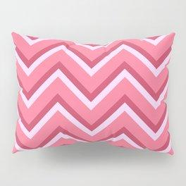 Pink Zig Zag Pattern Pillow Sham
