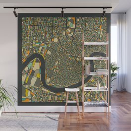 NEW ORLEANS MAP Wall Mural