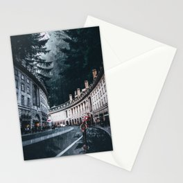 Cycling at Regent Street by GEN Z Stationery Cards