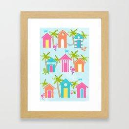 Tropical Cabanas Framed Art Print