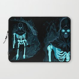 Demon with a scythe in the fire Laptop Sleeve