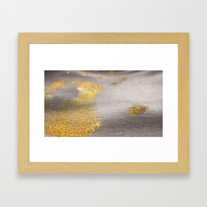 Day 0857 /// Golden touch Framed Art Print