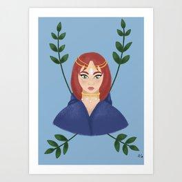 Magical Cloak Art Print