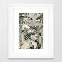wrestling Framed Art Prints featuring Wrestling by David Jablow