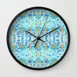 Sky Blue Ikat Wall Clock
