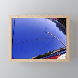 The Fish-Eye Sky, Grounded  Framed Mini Art Print