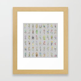 Zombie Characters Collection Framed Art Print