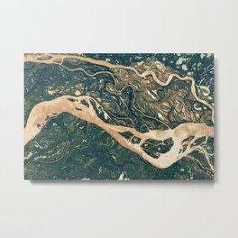 Parana River Argentina Aerial Photography Metal Print