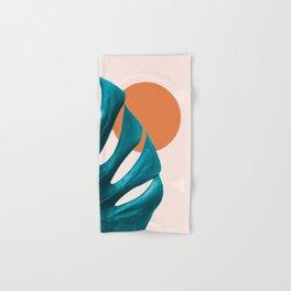 Comtemporary Abstract Monstera Hand & Bath Towel