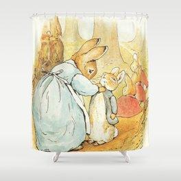 Ms Rabbit Says Goodbye Beatrix Potter Shower Curtain