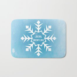 Liberal Snowflake Bath Mat